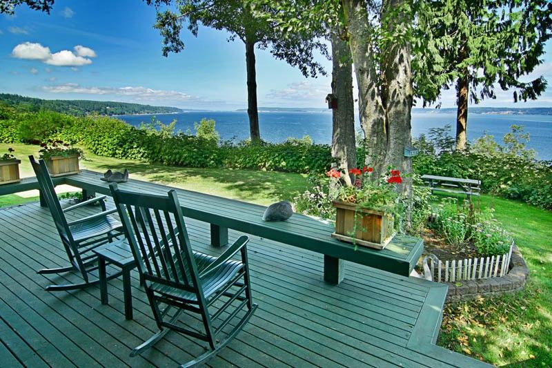 view from deck and Cottage - Saratoga Seascapes  The Cottage - Langley - rentals