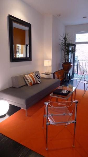 Living room  - Luxury 1 Bdrm in Historic Rowhouse 1 Blk to Metro - Washington DC - rentals
