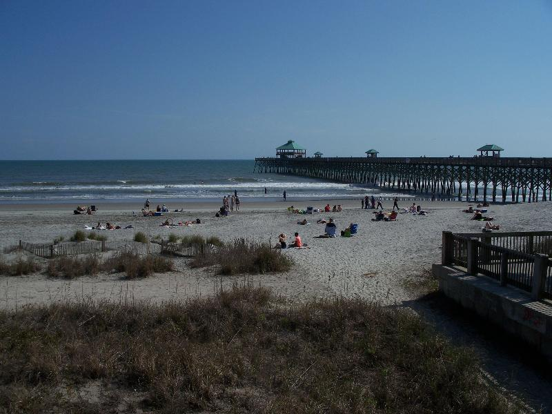 Right View from balcony - Oceanfront Condo - Right on the Beach! - Folly Beach - rentals