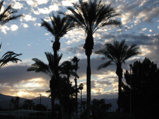 View at dusk from pool side. - The Sweet Spot ! - Palm Desert - rentals