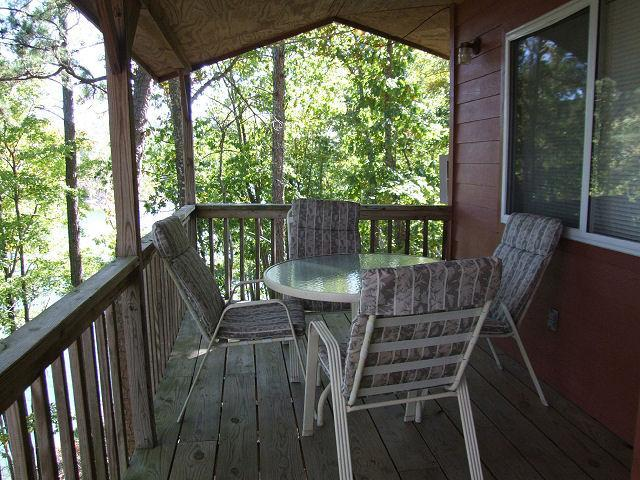 Porch with lake view - Carters Lake Cabin and Boat Package - Chatsworth - rentals