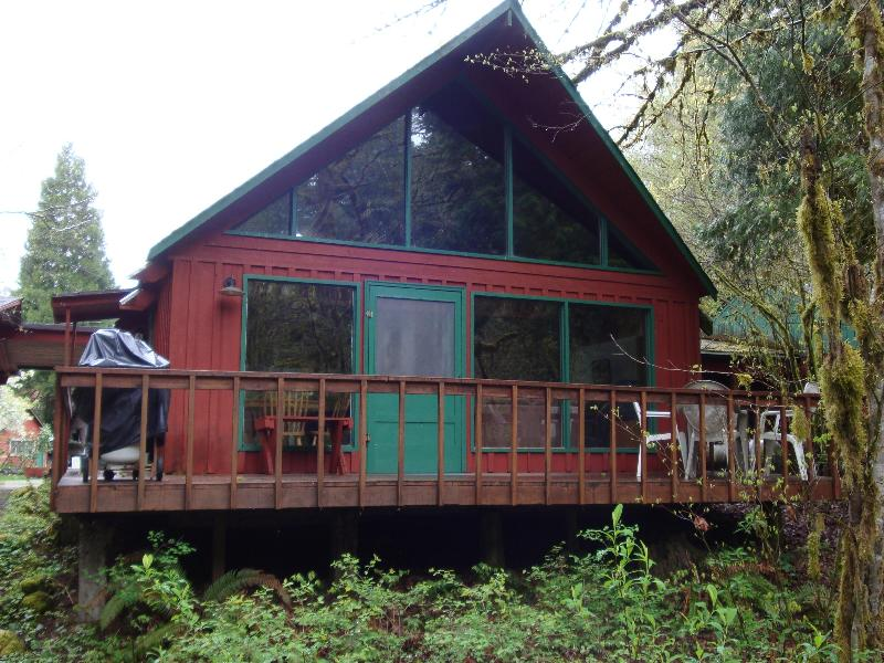 Facing River - McKenzie River Front Cottage - McKenzie Bridge - rentals