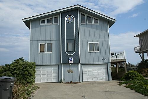 House from road - Mackey's Seaside-Topsail-4 bed, 2 bath Ocean front - Surf City - rentals