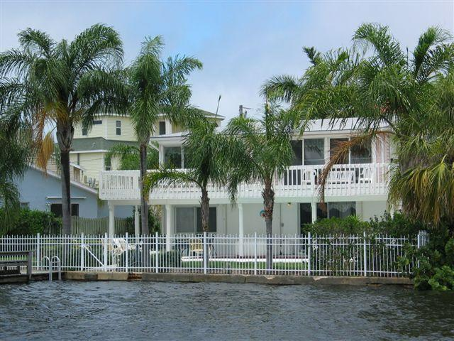 view of back of home from the water - Gulf front  Executive Home - Tarpon Springs - rentals