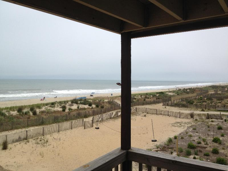 View South from Living Room Porch - Ocean Front 4 Bedroom Town Home in O.C., MD - Ocean City - rentals