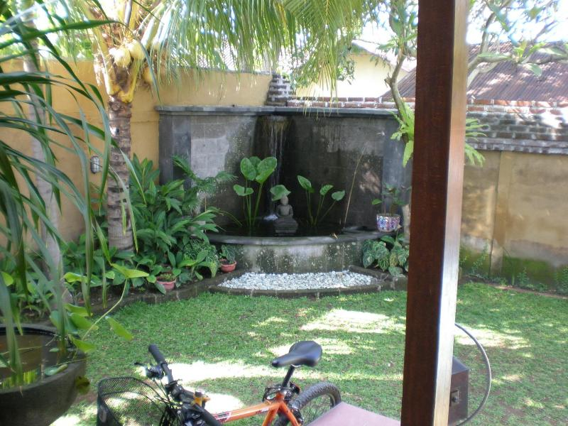 Front yard, fishpond and fountain - Sanur central, renovated Bali style home, sleeps 7 - Denpasar - rentals