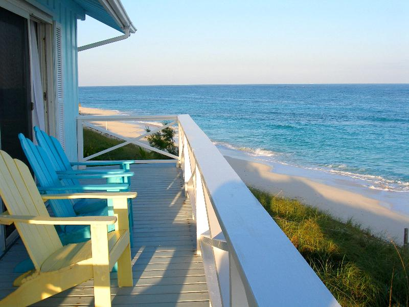 View from deck - Spectacular Oceanfront 4 Bedroom House Dock & Pool - Hope Town - rentals