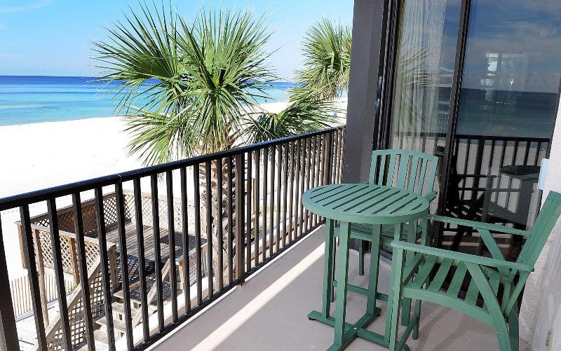 Balcony - Beautiful Gulf Front Remolded 2/2 in Pelican Walk! - Panama City Beach - rentals