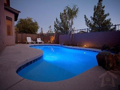 Photo showing pool light and yard lighting. - Newly Renovated Single Storey Spacious Home - Avondale - rentals