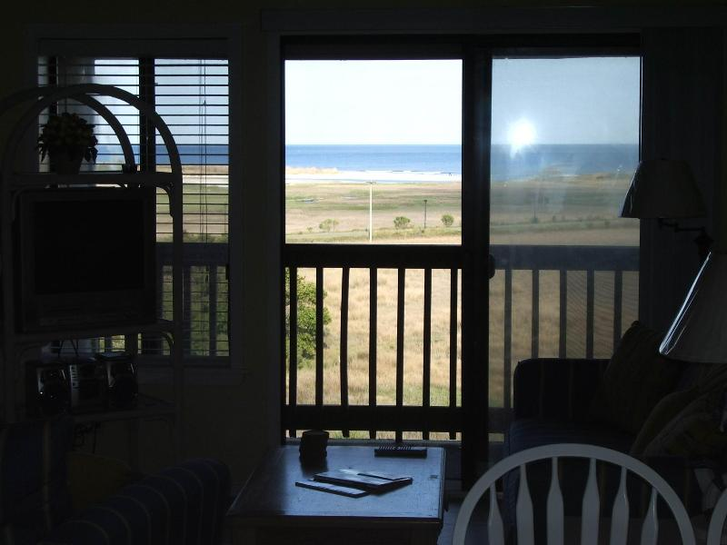 View from the living room - Panoramic Ocean view Secure Wifi Screened balcony - Hilton Head - rentals