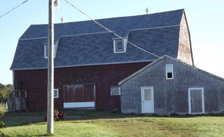 Mill Barn attached to Main Barn. Front View. - Mill House Studio Apartment - Mabou - rentals