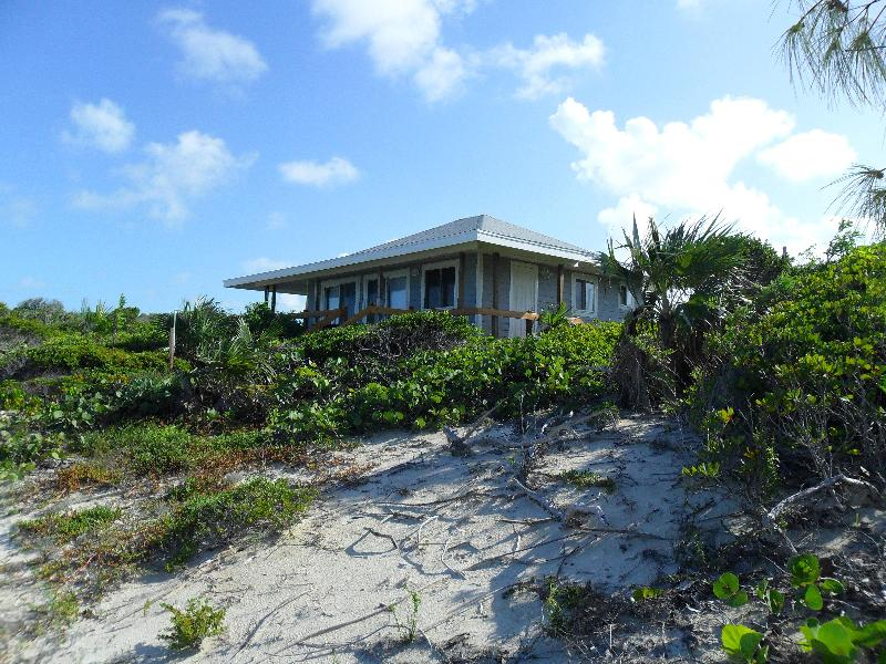 as seen from the beach - Beach front Cottage for 2 - Staniel Cay - rentals