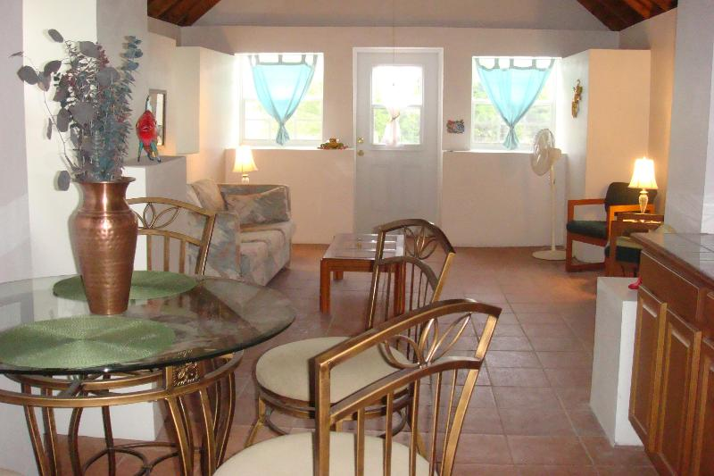 Open plan kitchen/dining/living area - Cozy 2 bedroom cottage in the heart of the island - Salt Cay - rentals