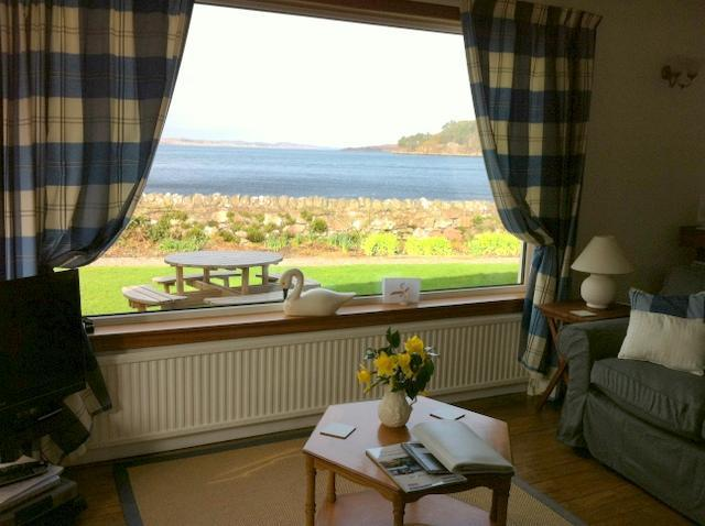 View from lounge - Dalriada 4* cottage with  views and sunsets - Poolewe - rentals
