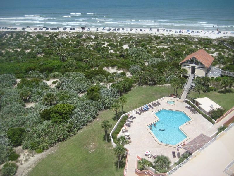 Beachside Pool from our balcony - Oceanfront Luxury - Call now for Columbus Day! - New Smyrna Beach - rentals