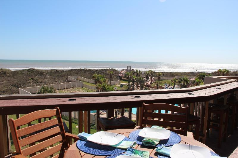 View from downstairs balcony - Newly Renovated, Upscale 2 Story Beach Front Condo - Port Aransas - rentals
