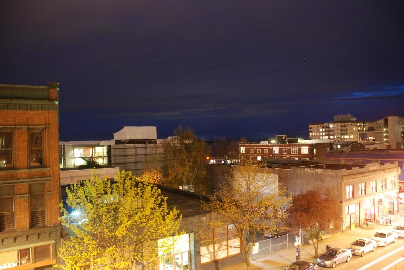City & Sound view from Balcony at night - 1 bedroom Belltown condo with parking! - Seattle - rentals