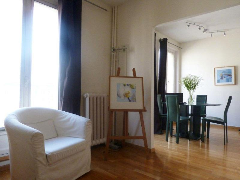 Living room and dining area - One Bedroom with Balcony Paris Panthéon - 5th Arrondissement Panthéon - rentals