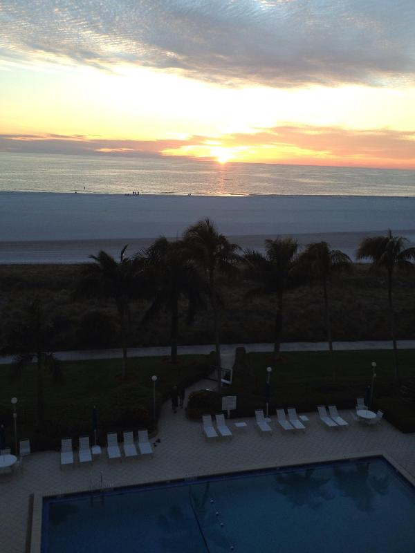 Sunset Every Night from Private Balcony - Admiralty House 2BR/2BA on the Gulf, Marco Is, FL - Marco Island - rentals