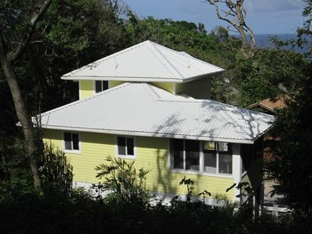 back of the house - Cute West Bay oceanview home,Sleeps 4,from $900/wk - West Bay - rentals