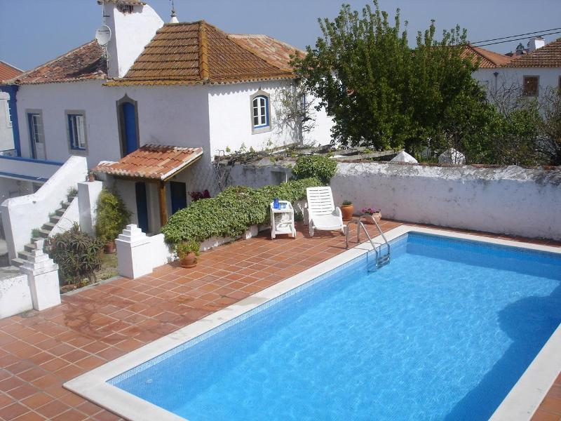 View of villa, courtyard and gardens from private swimming pool - Obidos VILLA, Stunning 19th Cent. Family Estate - Obidos - rentals