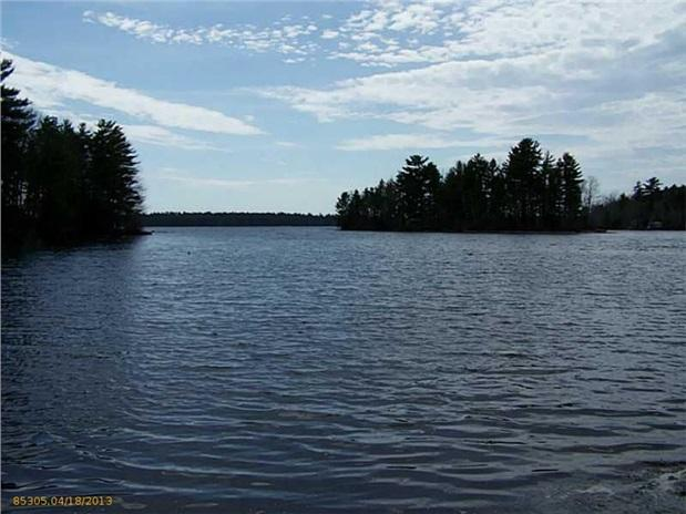 View from beach - 2 Bed Little Sebago Waterfront Camp w Private Beach and Dock - Gray - rentals