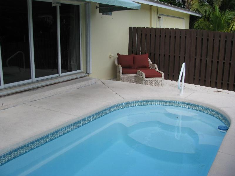 Your private pool and outdoor seating area with great canal view - THIS HOUSE HAS SOLD - Key Colony Beach - rentals