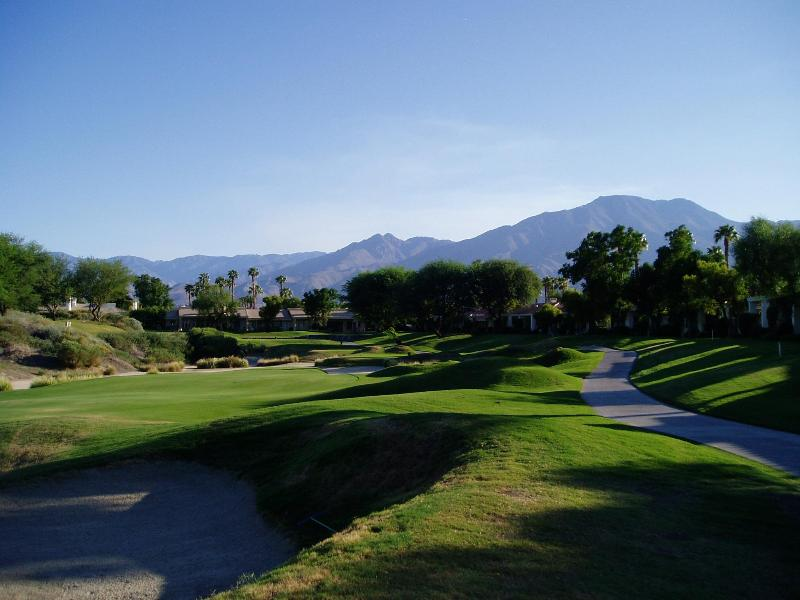 back patio view - PGA West- PERFECT 2 bedrm condo on Stadium Course - La Quinta - rentals