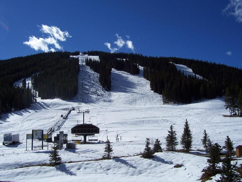 View from the Deck - Great Location- 3 Bedroom Ski-in,out to Super Bee - Copper Mountain - rentals