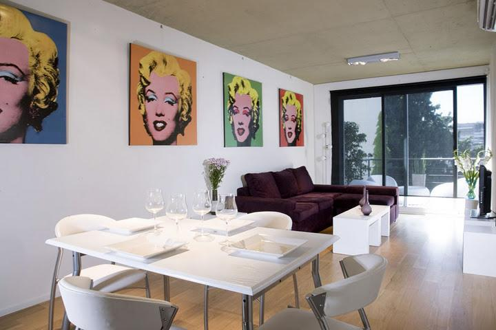 Living dining room - Triplex with private terrace and spa - Buenos Aires - rentals