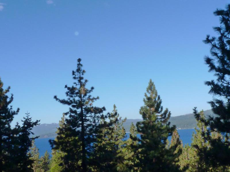 Lake and mountain view from the deck - 3 bedroom Lake Tahoe with view - $140-160 nite - Kings Beach - rentals