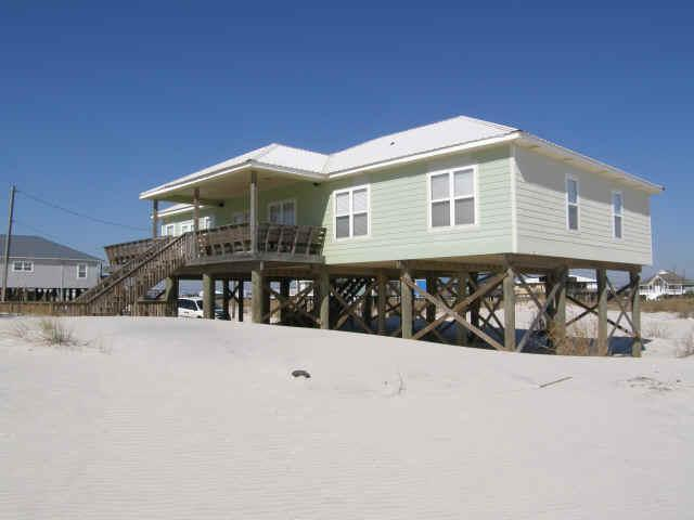 View from the beach - Only 100 ft to Gulf! 4 bedrm 3 bath beach house! - Dauphin Island - rentals
