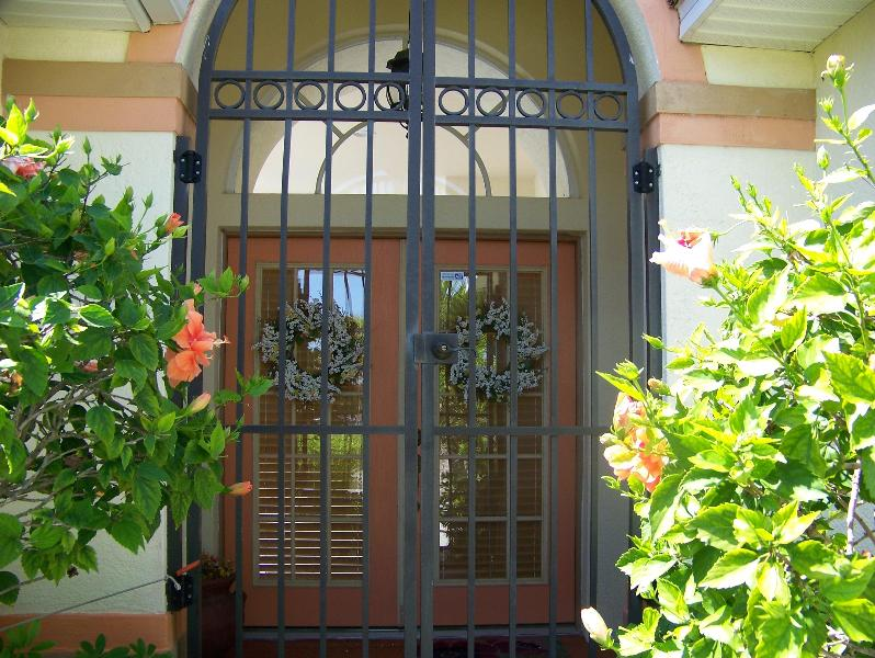 Front Entry - Southwest Cape Coral Courtyard Pool Home - Cape Coral - rentals