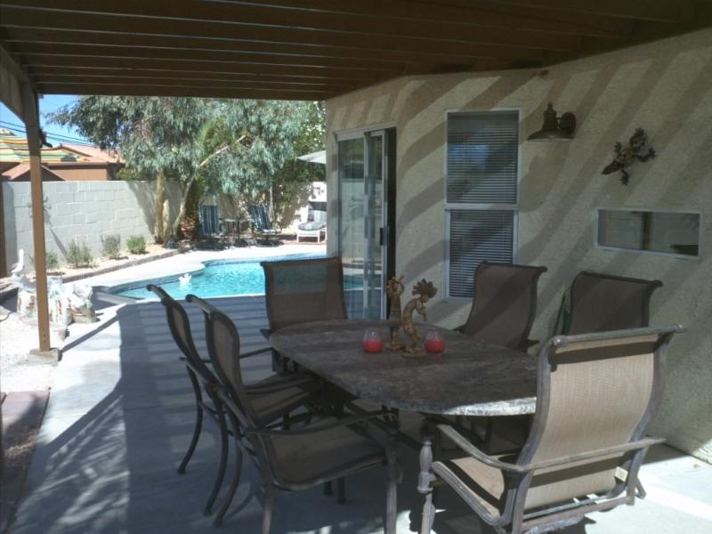 Pergola towards Pool Area - House with Pool, Pergola, Patios, and Fire Pit - Las Vegas - rentals