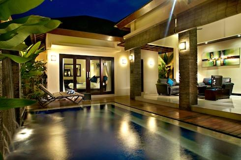 Villa at Night Overlooking the Pool - Luxury 1 Bedroom Seminyak Villa with Private Pool - Seminyak - rentals