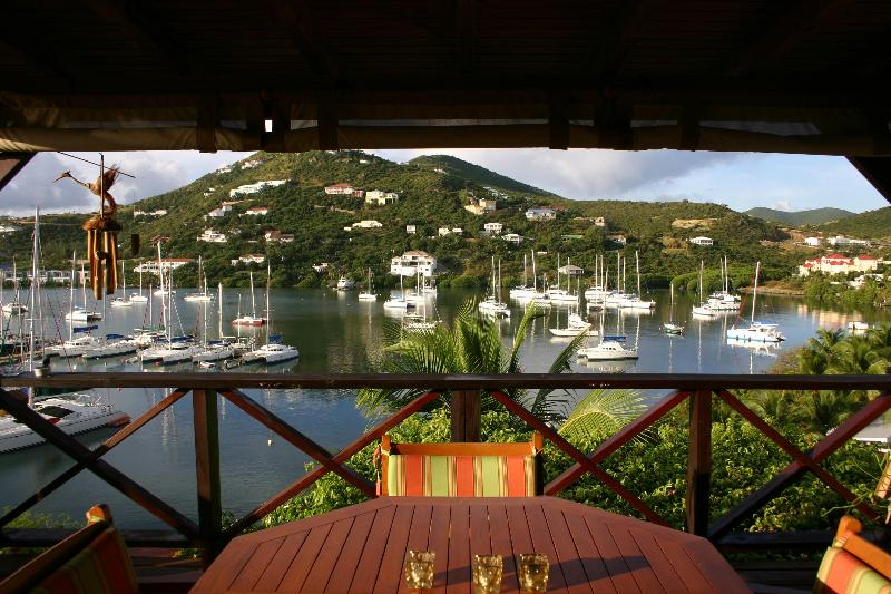 View from the deck onto scenic Oyster Pond - Oyster Pond St. Martin Picturesque Studio Condo - Oyster Pond - rentals
