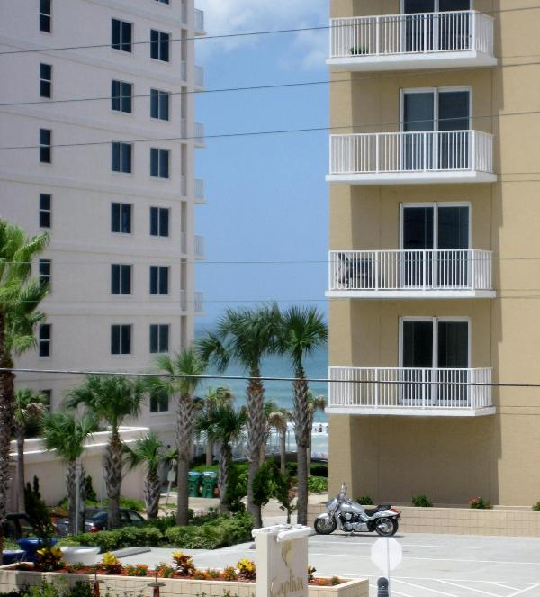 front balcony  with ocean sunrise view - Sun Sea + Sand at the 2 Br 2 Ba Ocean Terrace Club - Daytona Beach Shores - rentals