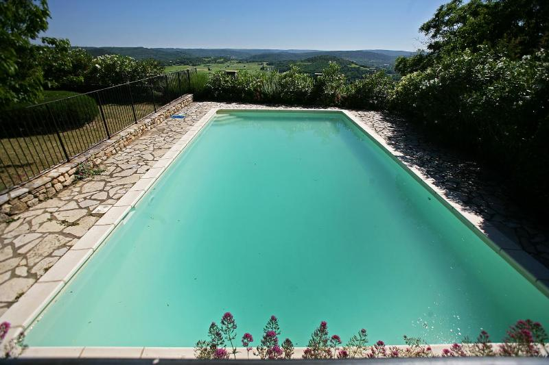 pool set above the ramparats - House and pool upon ramparts of medieval village - Cornillon - rentals