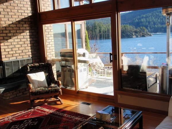 View from Living Room - Waterfront House in Deep Cove - Spectacular View! - North Vancouver - rentals
