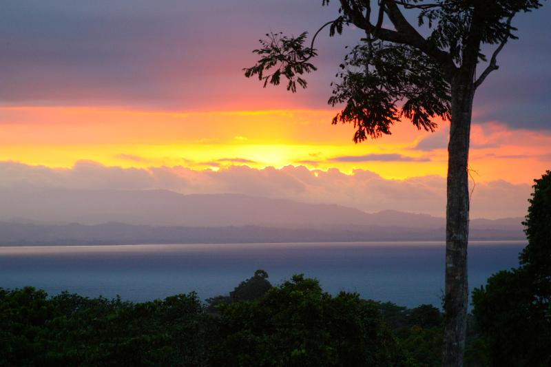 Sunset from the back lanai - Paraiso de Miguel, the ultimate adventure vacation - Pavones - rentals