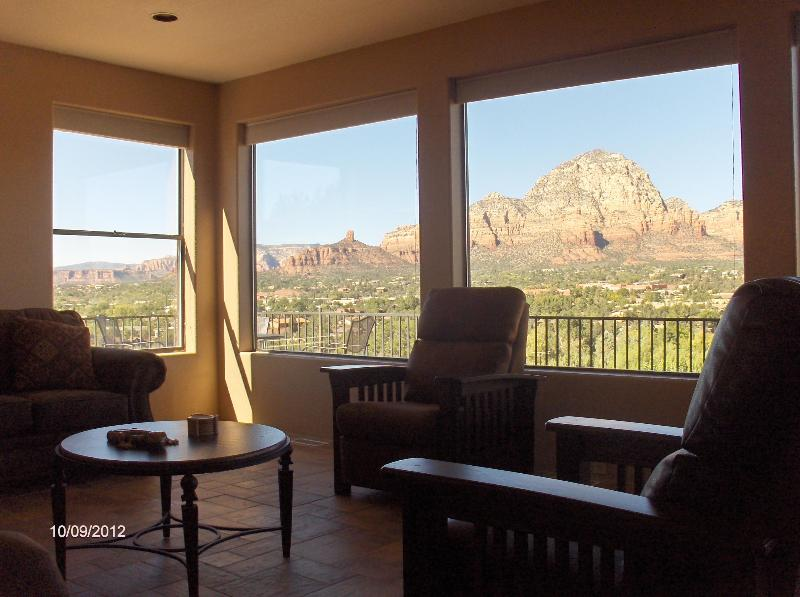 views from the living room - Majestic Views in the Heart of Sedona - Sedona - rentals