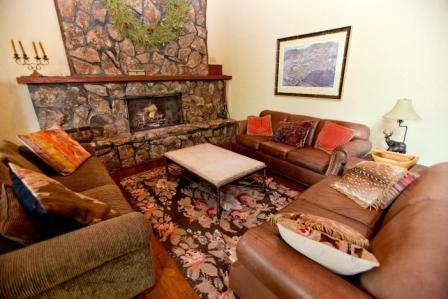 Living Area with stone fireplace - Gorgeous Home near the slopes - Snowmass Village - rentals