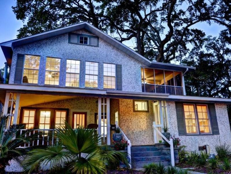 Front Porch looks out onto Village - Historic Village, Pier, Beach Location--Can sleep up to 10 - Saint Simons Island - rentals