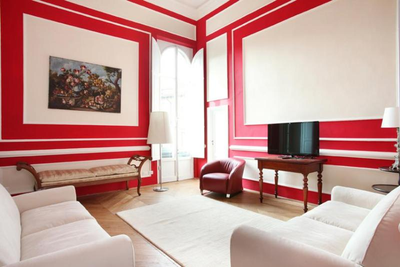 drawing room take 1 - new sunny luxury spacious quiet elegant glamour AC - Florence - rentals