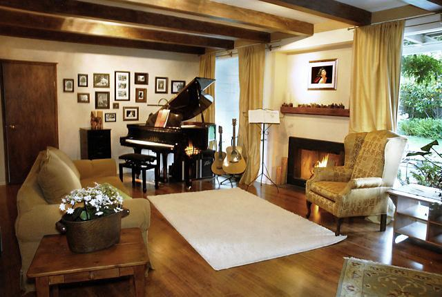 Living Room with Baby Grand Piano - Heavenly, Lush Home in Paradise Tropical setting! - Montecito - rentals