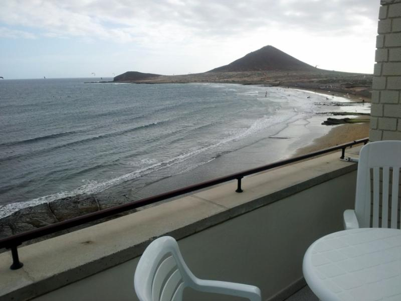 view from balcony - Duplex Apt beachfront of El Medano - El Medano - rentals