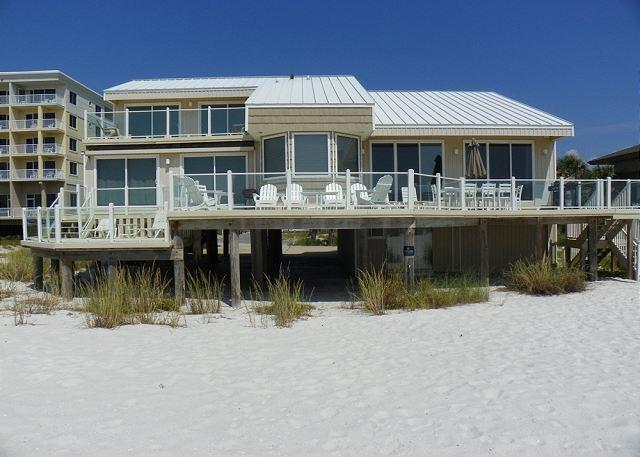 Enjoy the views from the many decks on the Gulf side of the home. - Ariola 100 - Pensacola Beach - rentals