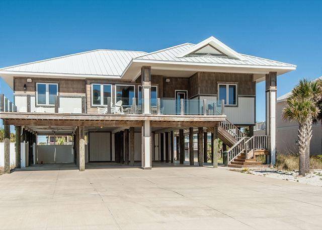 This Gulf view home has lots of parking, a large deck and private swimming pool. - Ariola 1101 - Pensacola Beach - rentals