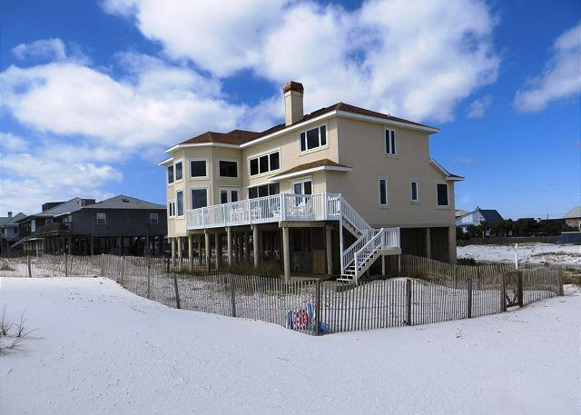 This large Gulf front home is just steps from the emerald waters of the Gulf of Mexico. - Ariola 810 - Pensacola Beach - rentals