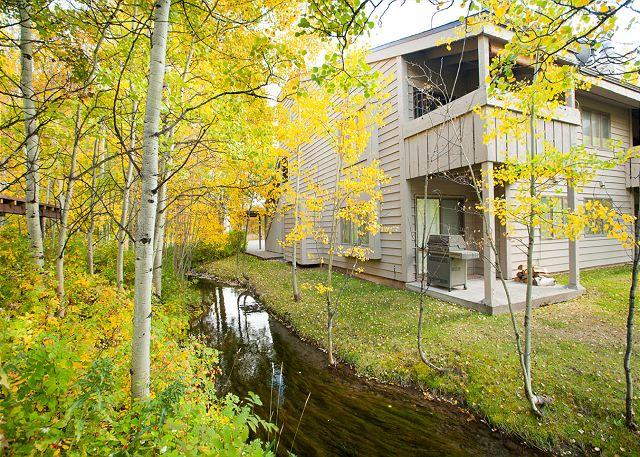 Stream next to unit - 5123 Foxtail - A Beautiful Condo in the Aspens! - Wilson - rentals